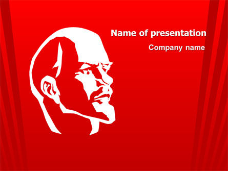 Lenin PowerPoint Template, 07646, Flags/International — PoweredTemplate.com