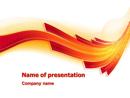 Abstract/Textures: Orange Ribbons PowerPoint Template #07647