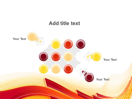 Orange Ribbons PowerPoint Template Slide 10