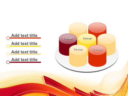 Orange Ribbons PowerPoint Template Slide 12