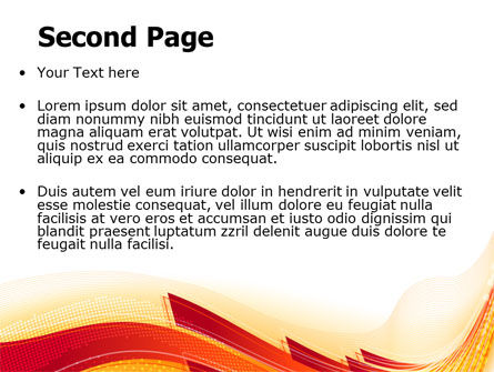 Orange Ribbons PowerPoint Template Slide 2