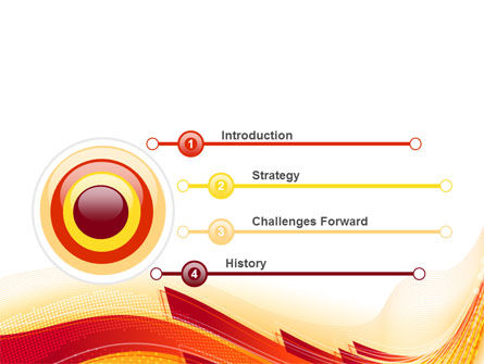 Orange Ribbons PowerPoint Template Slide 3