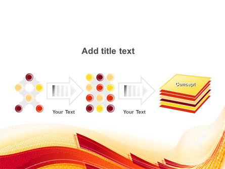 Orange Ribbons PowerPoint Template Slide 9
