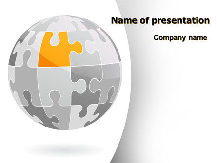 Orange Jigsaw PowerPoint Template