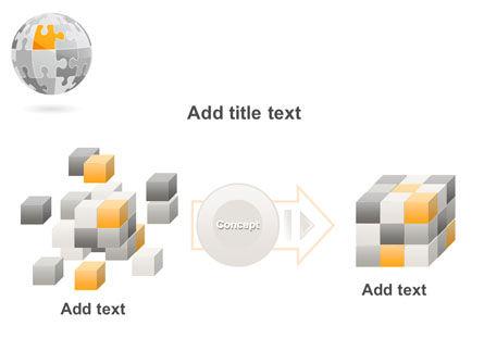 Orange Jigsaw PowerPoint Template Slide 17