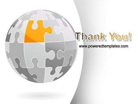 Orange Jigsaw PowerPoint Template Slide 20