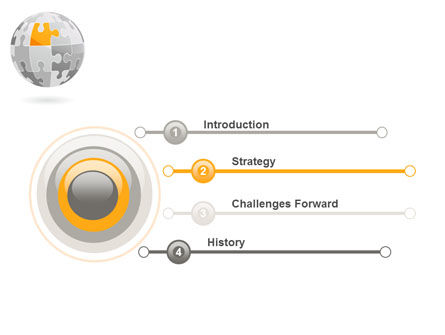 Orange Jigsaw PowerPoint Template Slide 3