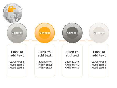 Orange Jigsaw PowerPoint Template Slide 5