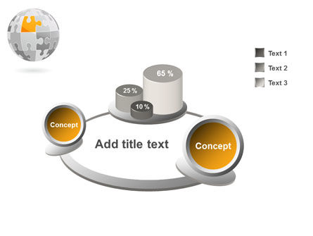 Orange Jigsaw PowerPoint Template Slide 6