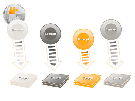Orange Jigsaw PowerPoint Template Slide 8