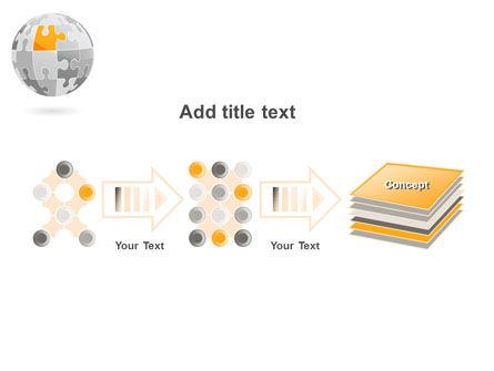 Orange Jigsaw PowerPoint Template Slide 9