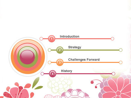 Pink Floral Theme PowerPoint Template, Slide 3, 07650, Nature & Environment — PoweredTemplate.com
