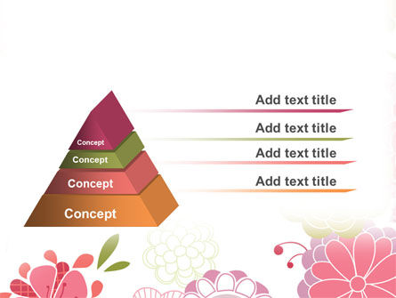 Pink Floral Theme PowerPoint Template, Slide 4, 07650, Nature & Environment — PoweredTemplate.com