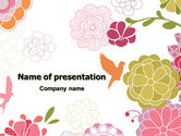 Nature & Environment: Pink Floral Theme PowerPoint Template #07650
