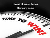 Consulting: Time to Win PowerPoint Template #07651