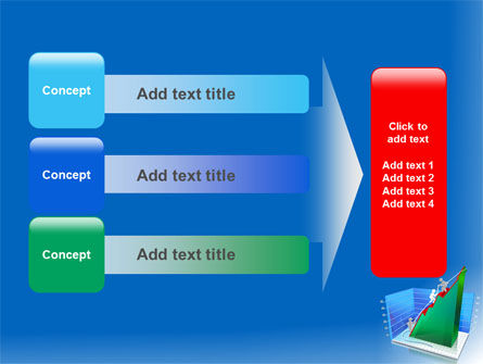 Rising Rates 3D Histogram PowerPoint Template Slide 12