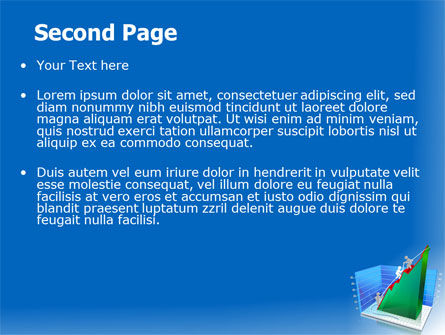 Rising Rates 3D Histogram PowerPoint Template, Slide 2, 07652, Business Concepts — PoweredTemplate.com