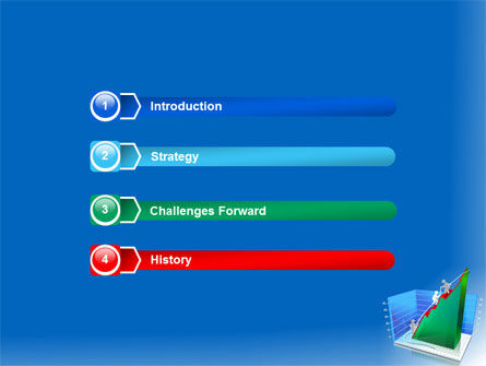 Rising Rates 3D Histogram PowerPoint Template, Slide 3, 07652, Business Concepts — PoweredTemplate.com