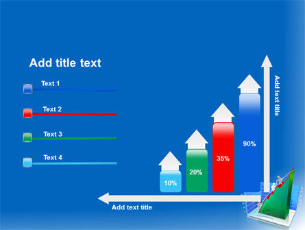 Rising Rates 3D Histogram PowerPoint Template Slide 8