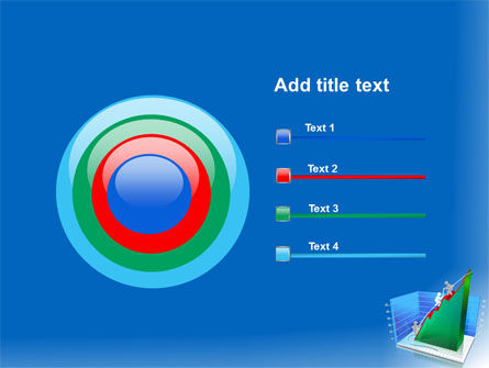 Rising Rates 3D Histogram PowerPoint Template Slide 9