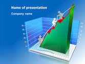 Business Concepts: Rising Rates 3D Histogram PowerPoint Template #07652