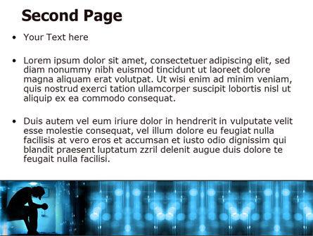 Feeling Blue PowerPoint Template, Slide 2, 07653, People — PoweredTemplate.com