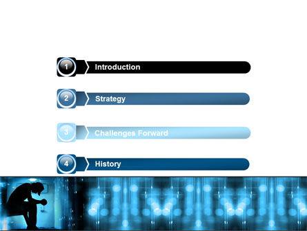 Feeling Blue PowerPoint Template, Slide 3, 07653, People — PoweredTemplate.com