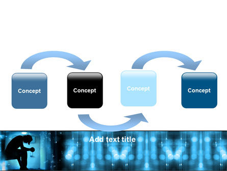 Feeling Blue PowerPoint Template, Slide 4, 07653, People — PoweredTemplate.com