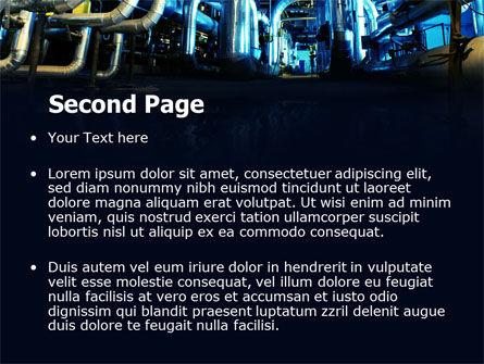 Industrial Pipelines PowerPoint Template, Slide 2, 07655, Utilities/Industrial — PoweredTemplate.com
