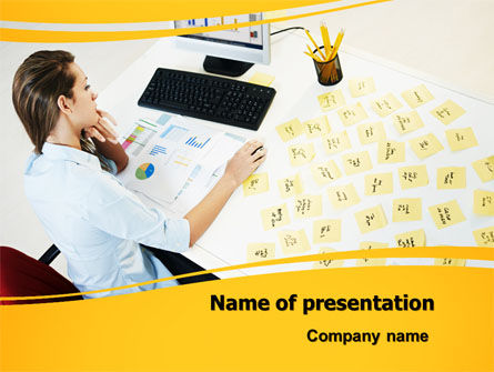 memo powerpoint template, backgrounds | 07656 | poweredtemplate, Presentation templates