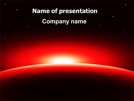 Nature & Environment: Sunset in Space PowerPoint Template #07657