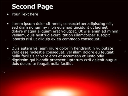 Sunset in Space PowerPoint Template, Slide 2, 07657, Nature & Environment — PoweredTemplate.com