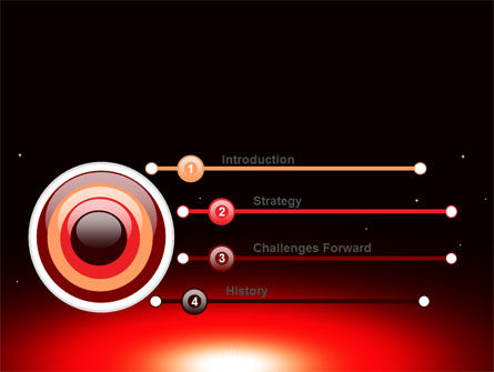 Sunset in Space PowerPoint Template, Slide 3, 07657, Nature & Environment — PoweredTemplate.com