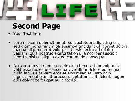 Labyrinth of Life PowerPoint Template, Slide 2, 07658, Business Concepts — PoweredTemplate.com