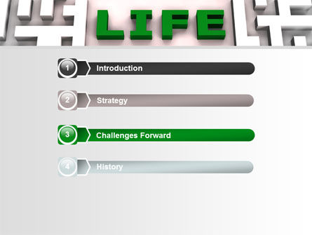Labyrinth of Life PowerPoint Template, Slide 3, 07658, Business Concepts — PoweredTemplate.com