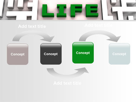 Labyrinth of Life PowerPoint Template, Slide 4, 07658, Business Concepts — PoweredTemplate.com