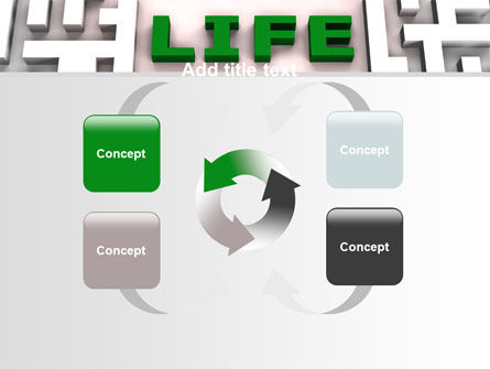 Labyrinth of Life PowerPoint Template Slide 6
