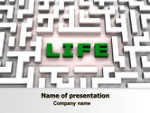 Business Concepts: Labyrinth of Life PowerPoint Template #07658