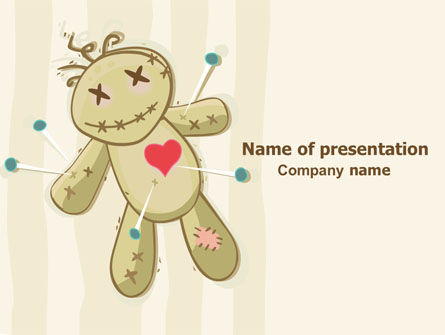 Voodoo Love Doll PowerPoint Template, 07659, Business Concepts — PoweredTemplate.com