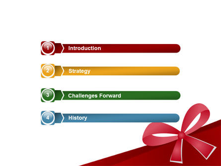 Happy Birthday Bow PowerPoint Template Slide 3