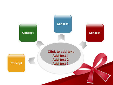 Happy Birthday Bow PowerPoint Template Slide 7
