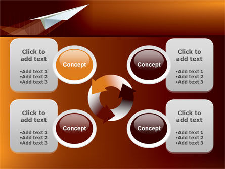 Flying Up PowerPoint Template Slide 9