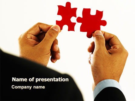 Consulting: Adding Pieces PowerPoint Template #07664