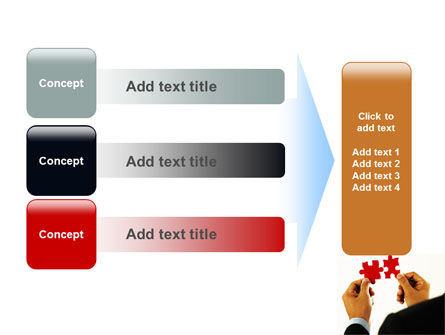 Adding Pieces PowerPoint Template Slide 12