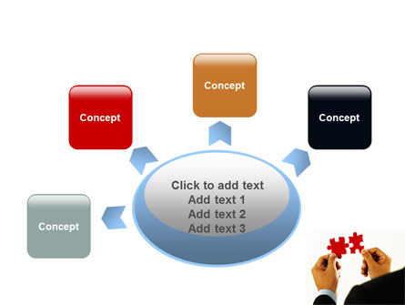 Adding Pieces PowerPoint Template Slide 7