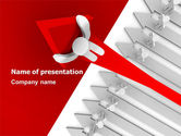 Business Concepts: Leader of Industry PowerPoint Template #07665