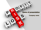 Financial/Accounting: Profit and Risk PowerPoint Template #07669