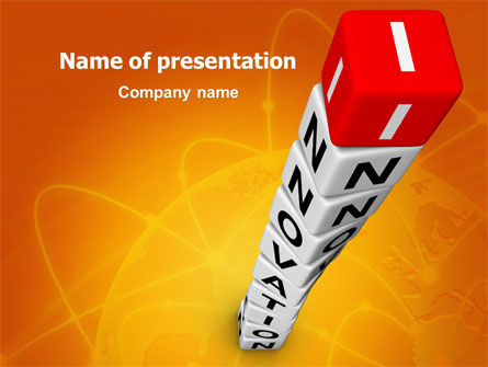 Innovations Tower PowerPoint Template, 07670, Business Concepts — PoweredTemplate.com