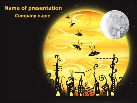 Education & Training: Alien Theme PowerPoint Template #07672