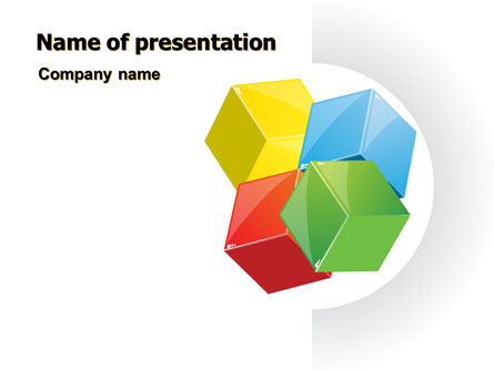 Color Blocks PowerPoint Template